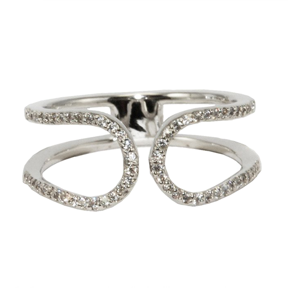 PAVE OPEN HORSESHOE RING
