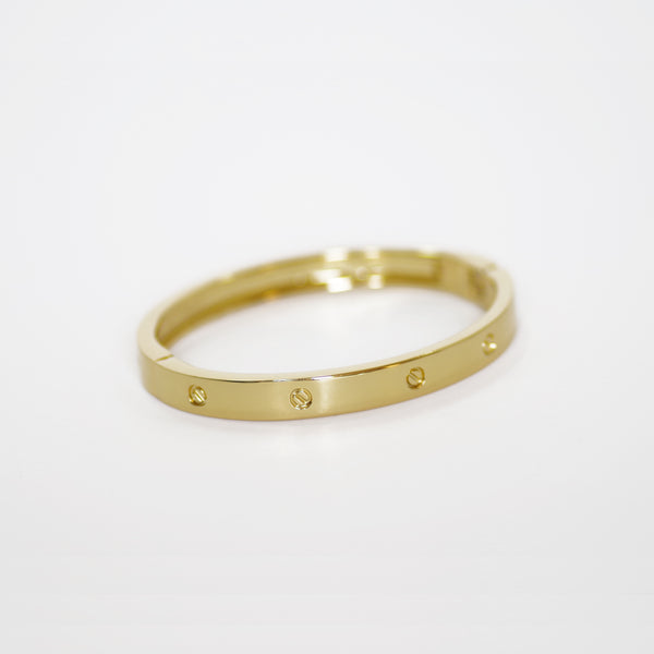 Surgical Designer Inspired Gold Open Bangle