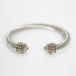 Topaz Champagne Designer Inspired Bangle