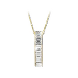 Vermeil Jacobs Ladder Necklace with Channel Set Baguettes