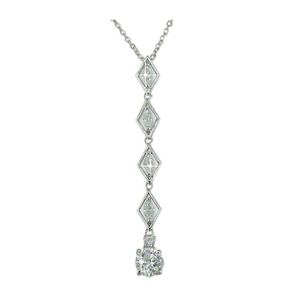 Marquise Cut CZ Wedding Drop Necklace with 5AAA Stone Pendant