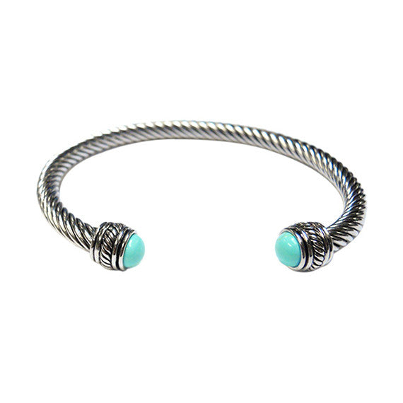 Designer Bangle with Turquoise CZ