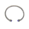 Designer Bangle With Deep Blue CZ
