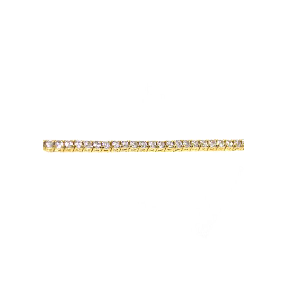 Thin Solitaire Tennis Bracelet
