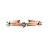 Designer Inspired Love Knot Surgical Steel Cuff Bracelet in Rhodium