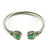Turquoise Adjustable Designer Inspired Bangle