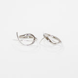 Bali Minimalist Double Spiral Fishhooks in Sterling Silver