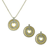 Multi-Circle Pendant 2 Piece Gift Set of Necklace and Earrings