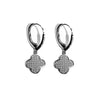 Designer Clover Pave Earrings