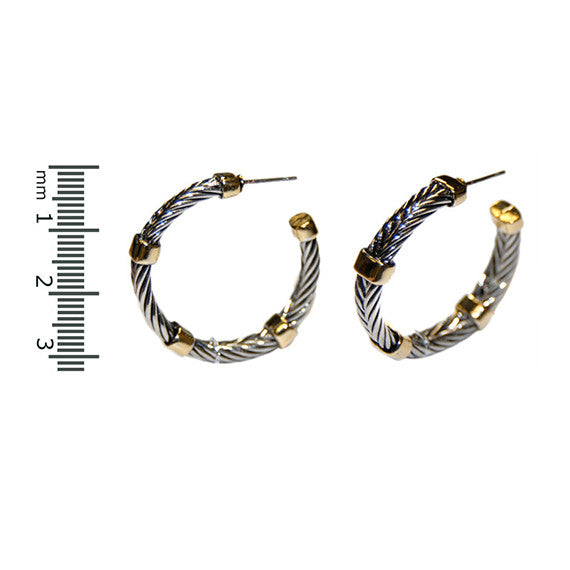 Designer Inspired Gold Station  Hoops