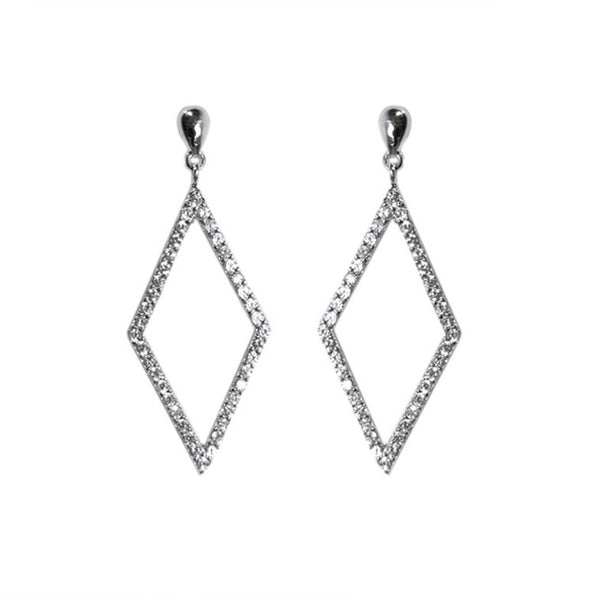 Designer Pave Victory Earrings