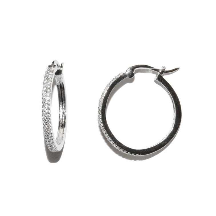 Traditional Pave Hoop