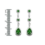 Emerald Vintage Drop Earrings