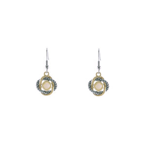Love Knot Drop Earrings in Mother of Pearl