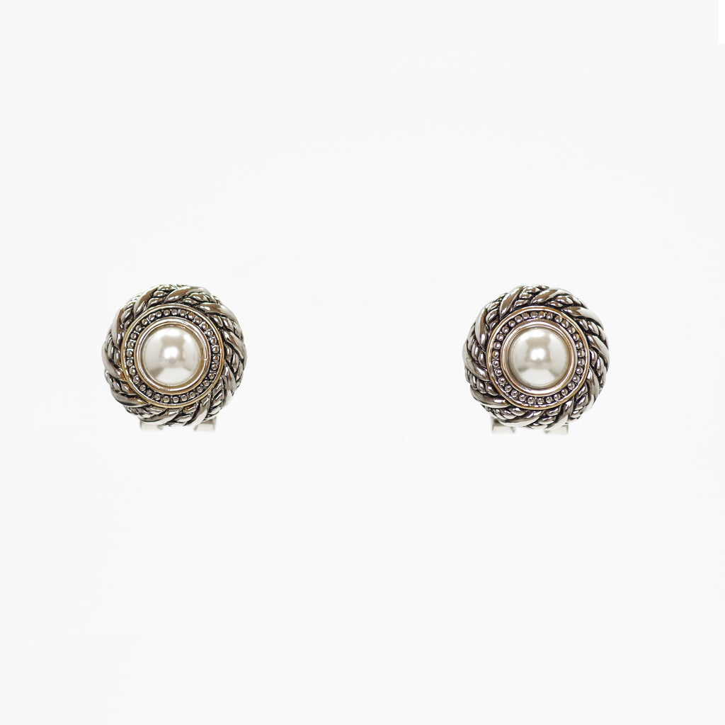 Designer Inspired Mother of Pearl Halo Earrings