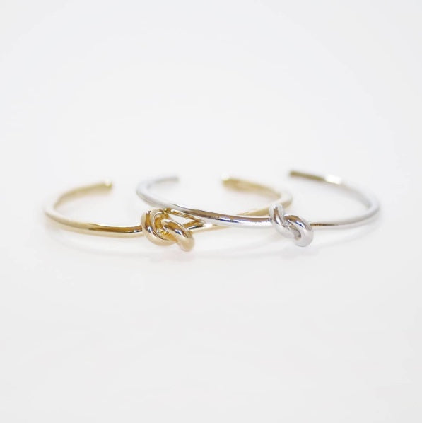 Knot Cuff Bracelet in Surgical Steel