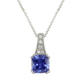 Simulated Tanzanite Pave Necklace