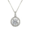 Open Halo Classic Pendant Necklace