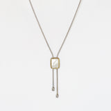 Designer Inspired Lariat with Natural Mother of Pearl