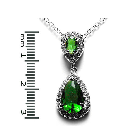 Emerald Vintage Drop Necklace