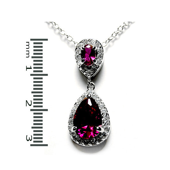 Ruby Vintage Drop Necklace