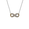 Classic Pave CZ Infinity Necklace in Gold