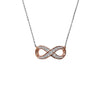 Classic Pave CZ Infinity Necklace in Rose Gold