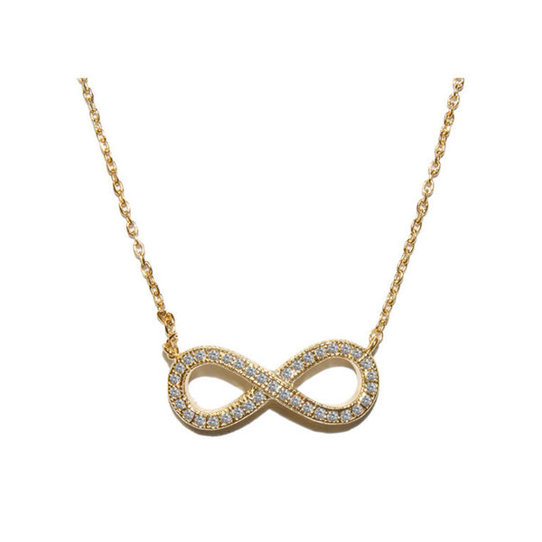 Pave Infinity Necklace w/18ct Gold Finish