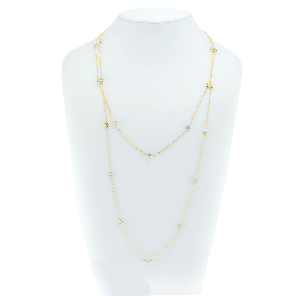 "48"" By the YardÊw/Raised stones in 18ct gold finish"