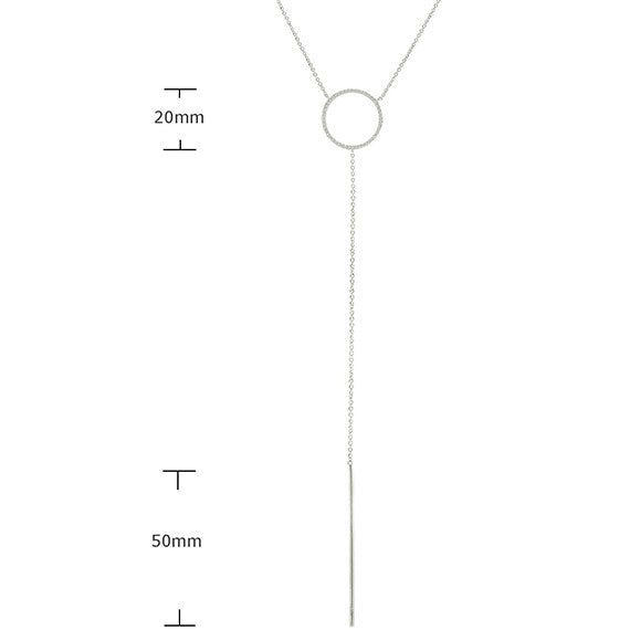 Forever Love 'LA' Look Drop Necklace