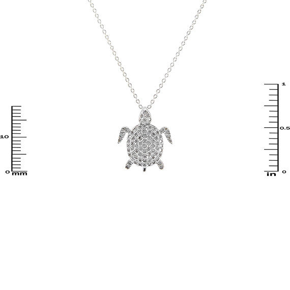 Micropave Turtle Necklace