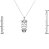 Owl Pave Necklace