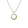 Designer Inspired Two-Tone Crossover Circle Link Pendant