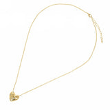 Heart Pendant Necklace with CZ Accents in Gold