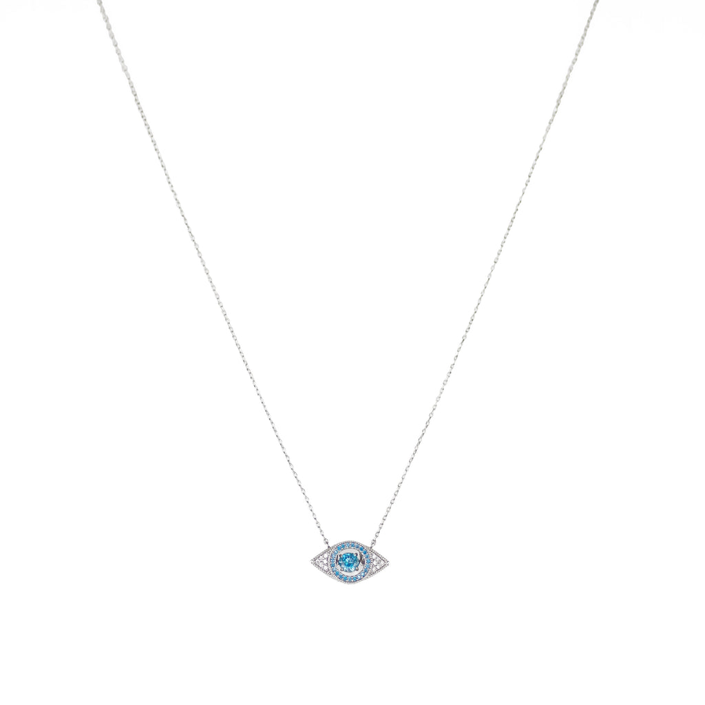 Light Blue Evil Eye with CZ Stones