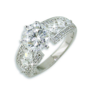 Platinum 2.0 CT Round Cut Cubic Zirconia (CZ) Solitaire Band