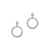 Forever Love Circle Drop Earrings with 1/4 CT Solitaire CZ