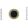 Designer Inspired Black Coin Ring