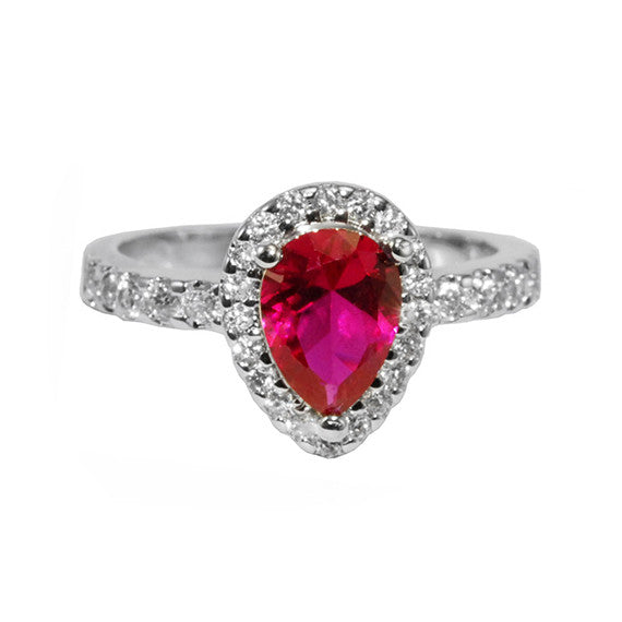 Ruby Pear Shaped Ring