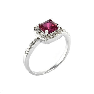 Ruby Square Cut Vintage Inspired Ring