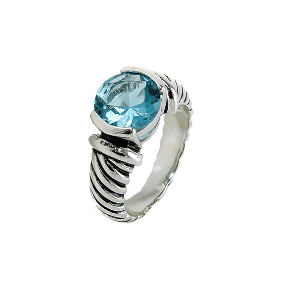 Designer Inspired  Aqua Stone Ring