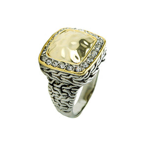 Designer Inspired Hammered Gold Ring