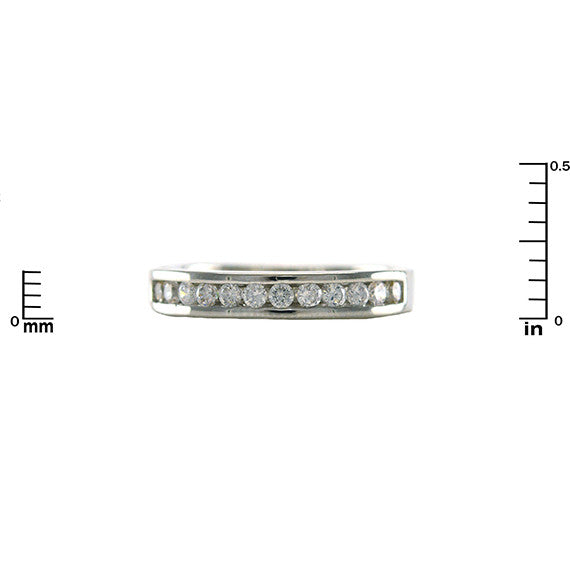 1/2 Eternity Channel Set Ring