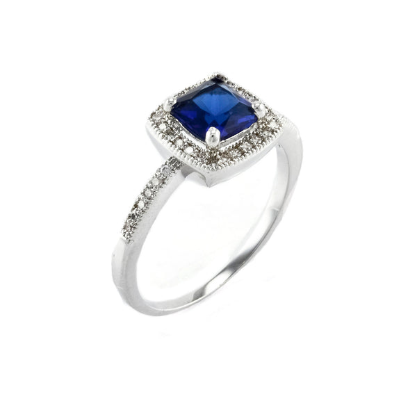 Sapphire Square Cut Vintage Inspired Ring
