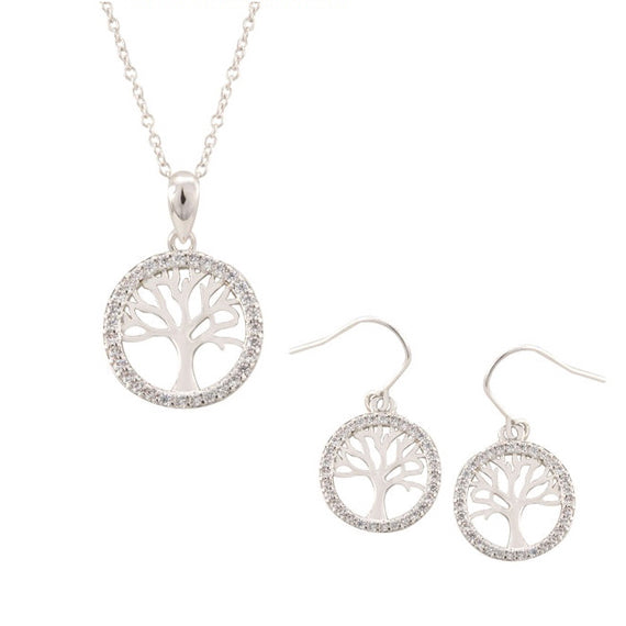 Tree of Life Earring and Necklace Set of Two