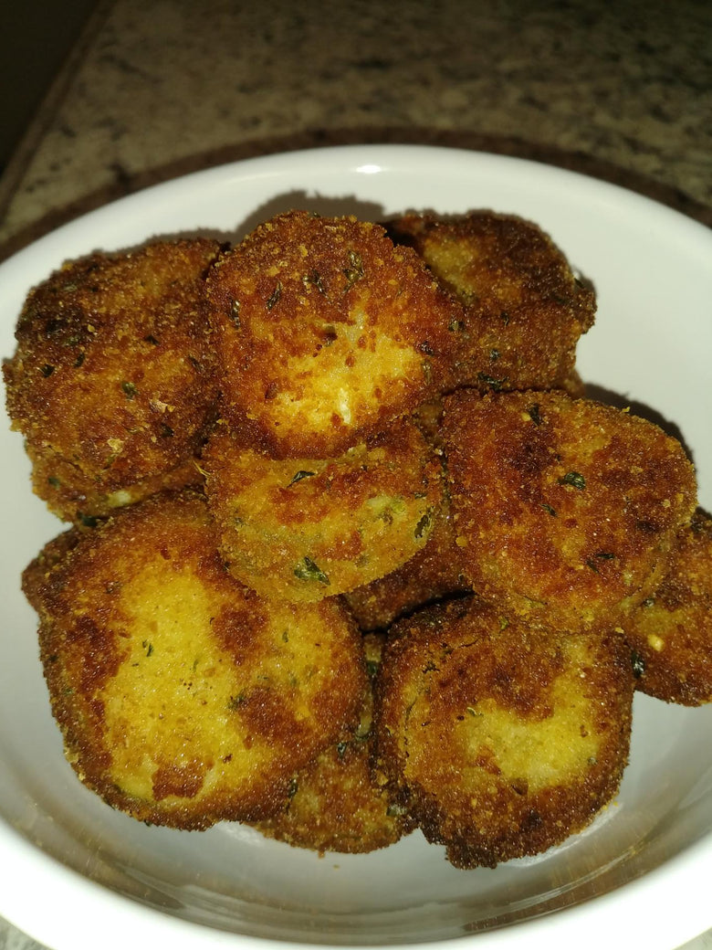 Italian Style Fried Horseradish Pickle Chips