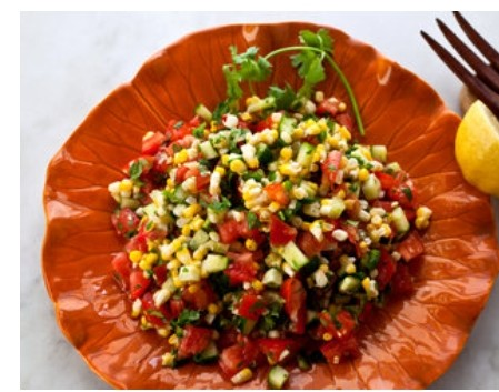 Spicy Corn and Gherkin Salad