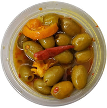 Tangerine & Chili Pitted Green Olives