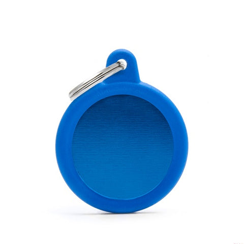 Round Blue Aluminum Necklace