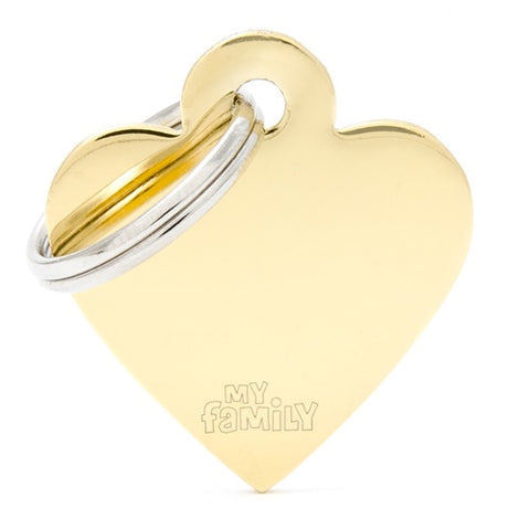 Golden Copper Heart shaped Necklace-Small